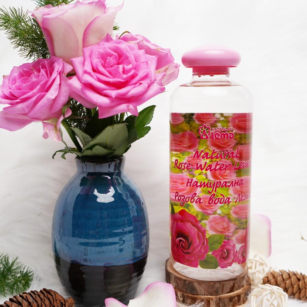Nước hoa hồng Bulgaria thương hiệu Lema, nước hoa hồng nguyên chất tự nhiên 500ml, cho làn da mịn màng trắng sáng