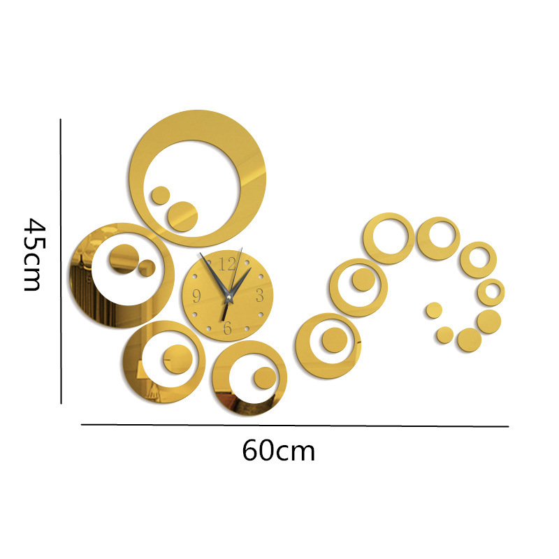 Đồng hồ dán tường DIY hoa văn cách điệu (DHDT.A2)