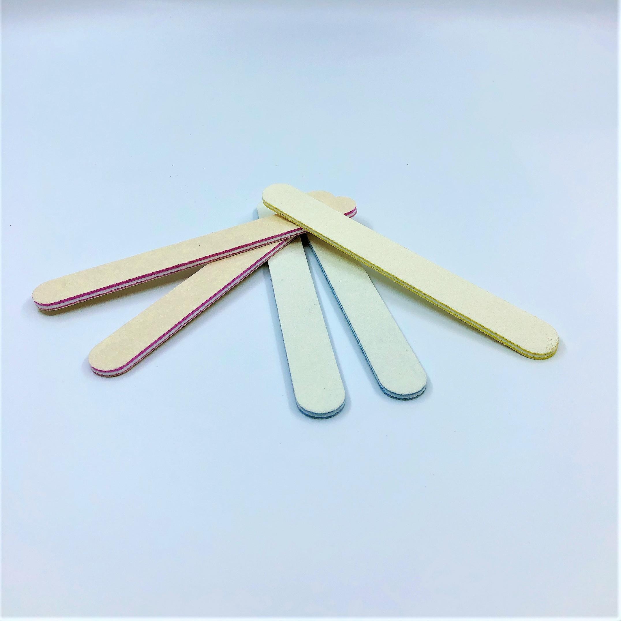 Set 10 cây dũa móng tay mini lót mút êm -  độ nhám 120/120 - Giao màu ngẫu nhiên
