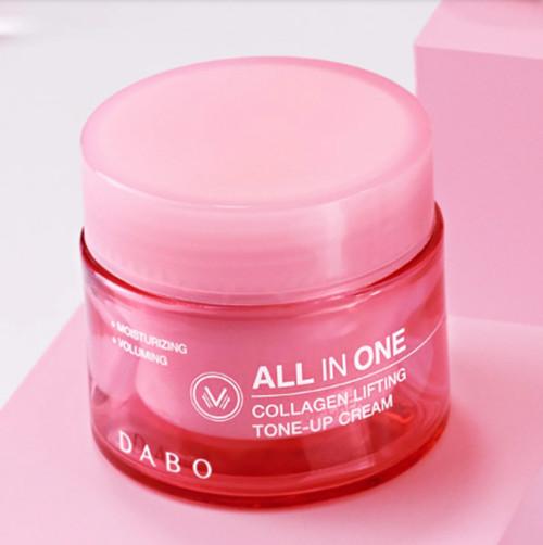 Kem nâng cơ chống lão hóa Dabo Collagen Lifting Tone Up Cream Hàn Quốc 50ml tặng móc khóa