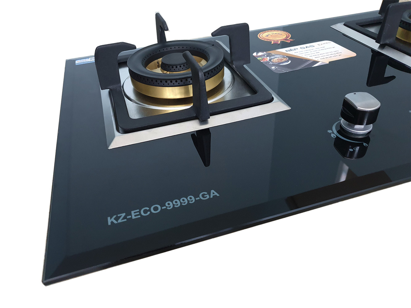Bếp gas âm Kanzo KZ-ECO-9999-GA 2 Mâm - Germany Technology - Tích hợp cảm biến- Ngọn lửa xanh - Hàng chính hãng