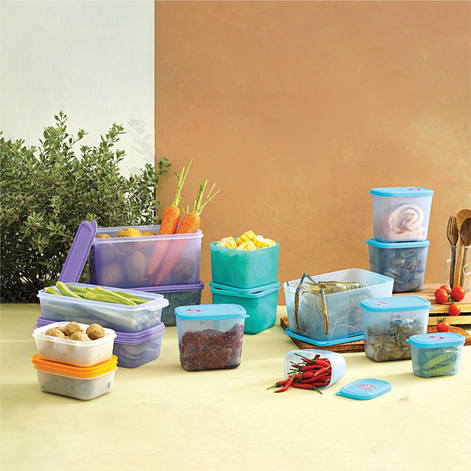 Bộ 15 hộp bảo quản thực phẩm đông và mát Tupperware