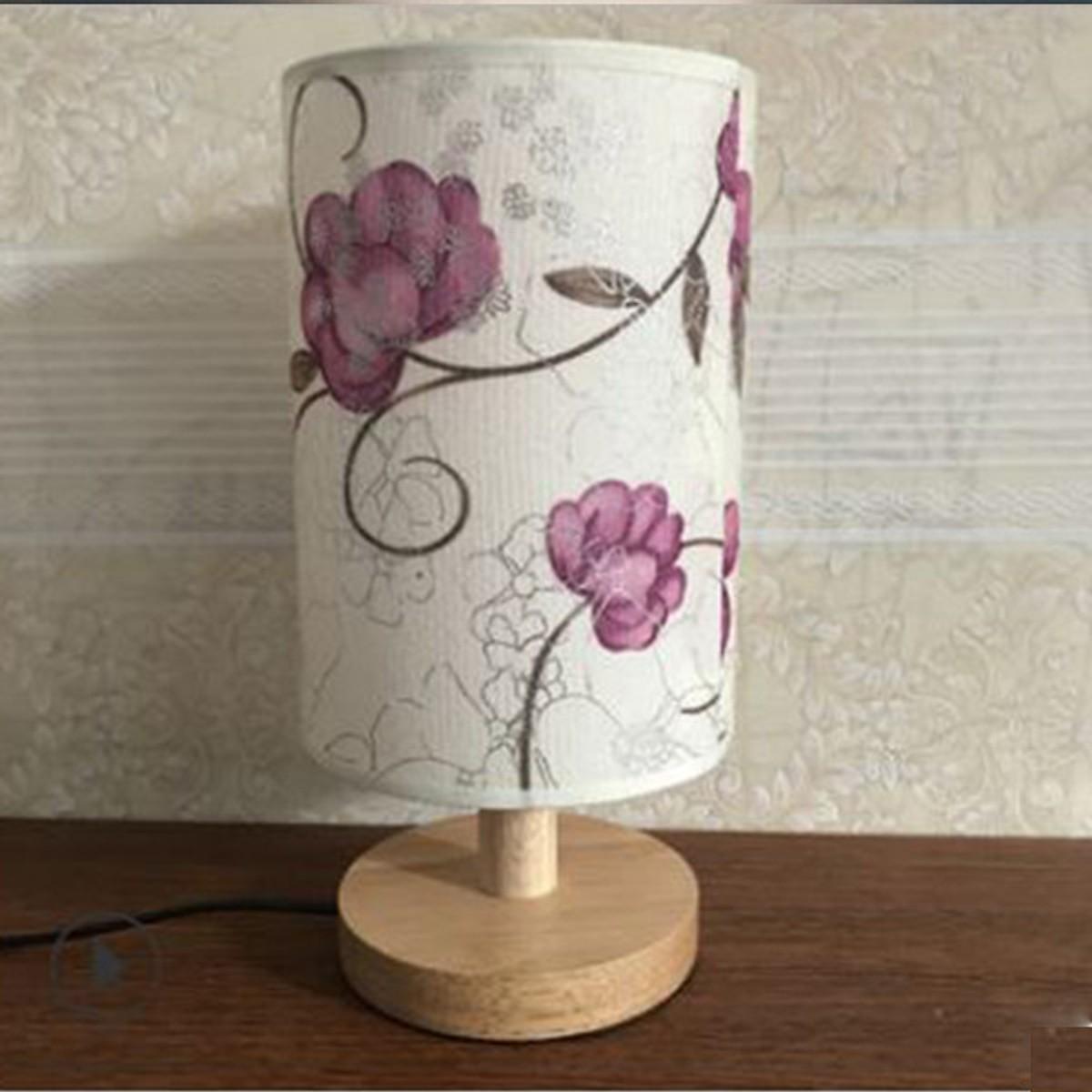 Đèn ngủ - đèn ngủ để bàn - đèn trang trí phòng ngủ - đèn gỗ - phong cách hiện đại TINA