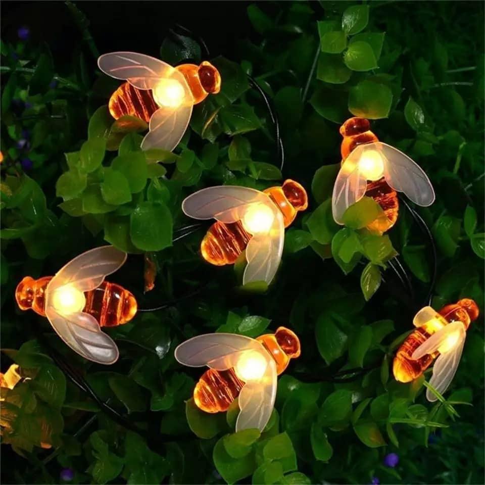 Chuỗi 30 Led Năng Lượng Mặt Trời trang trí hình con ong