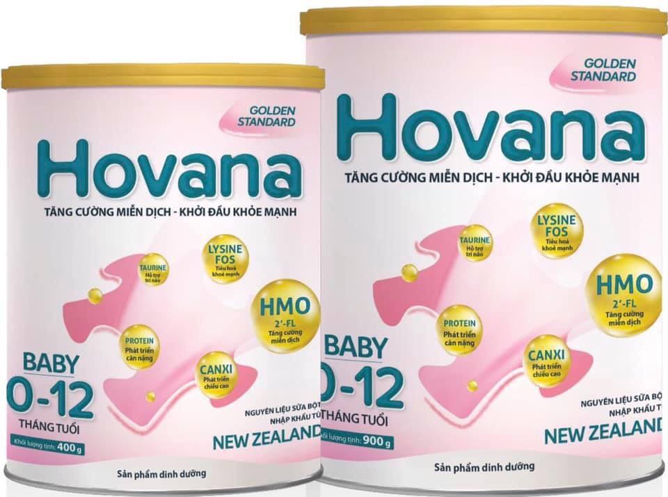 Sữa bột Hovana Baby hỗ trợ tiêu hóa cho bé từ 0 đến 12 tháng