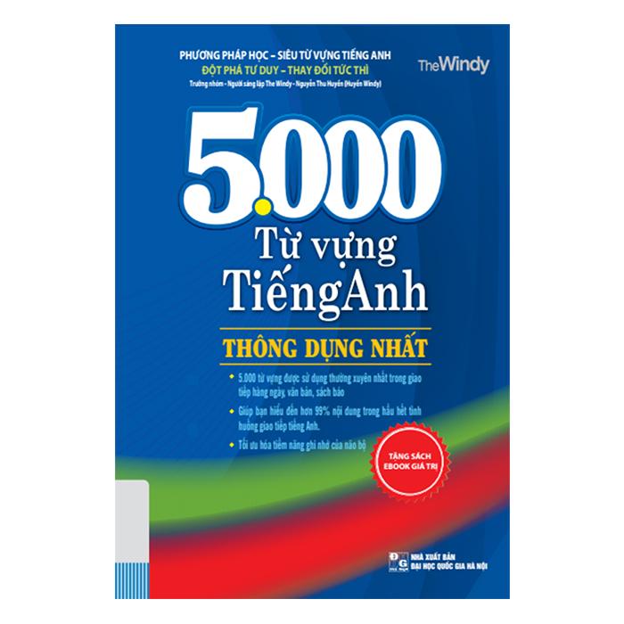 5000 Từ Vựng Tiếng Anh Thông Dụng Nhất (Tái Bản)