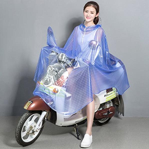 Áo mưa chấm bi Hàn Quốc TQ Có kính che