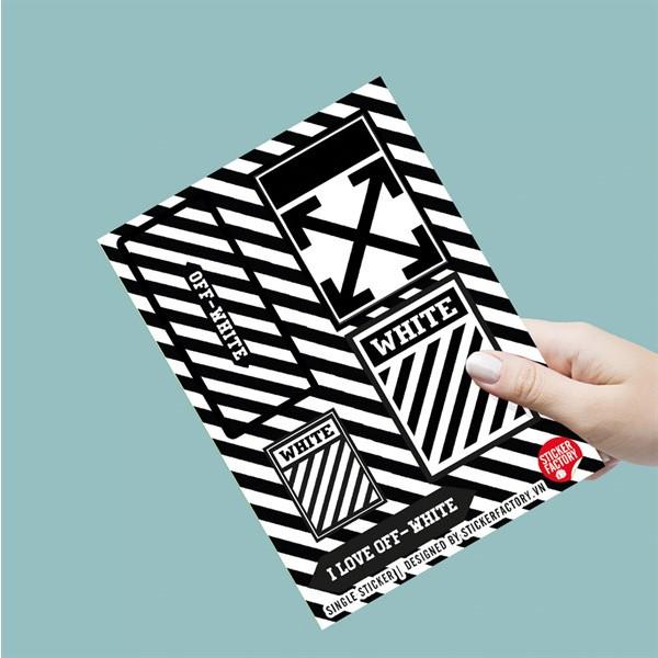 I Love Off-White - Single Sticker hình dán lẻ