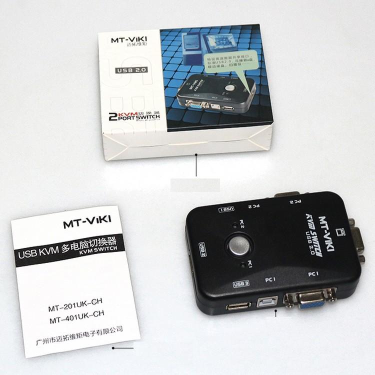 USB KVM Switches 2 ports MT- VIKI ( 2 Cây dùng 1 màn hình) - Hàng Chính Hãng