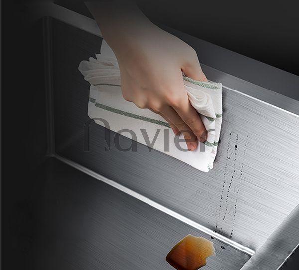 Chậu rửa chén 2 ngăn đều Inox304 thường Navier NV-8245D