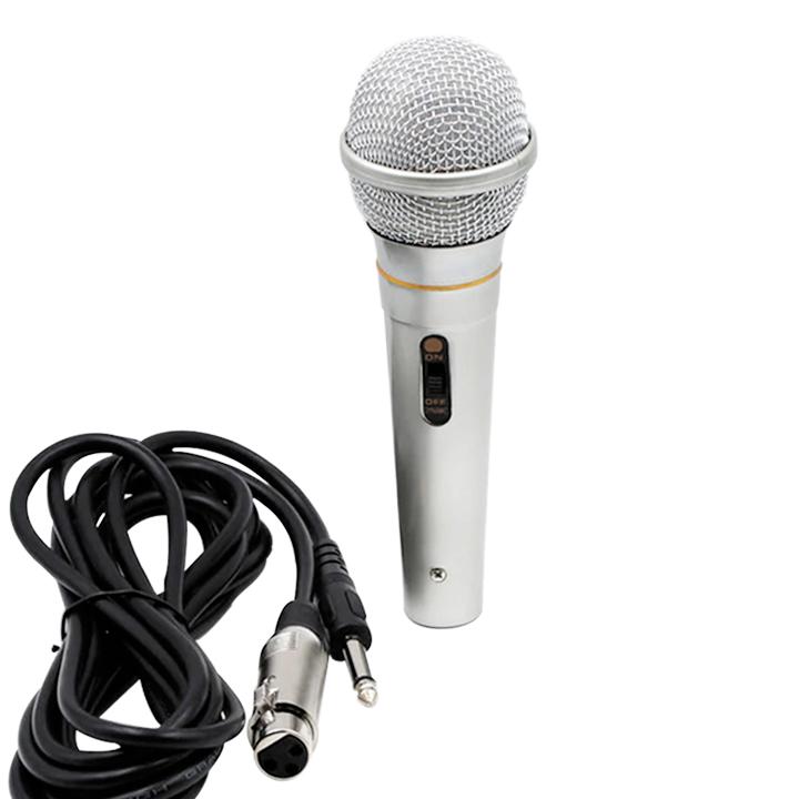 Micro Chuyên Karaoke Có Dây Âm Thanh Cao Cấp Đỉnh Cao PKCB M11 Bạc