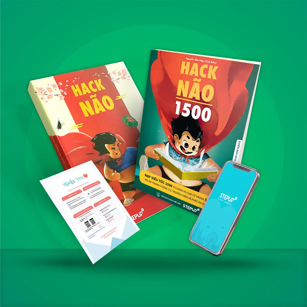 Hack Não 1500 - sách tự học từ vựng theo chủ đề, đi kèm App dạy phát âm của người bản xứ và 4 buổi học Livestream mỗi tuần - tự tin đọc hiểu và giao tiếp tiếng Anh, luyện siêu trí nhớ sau 50 ngày