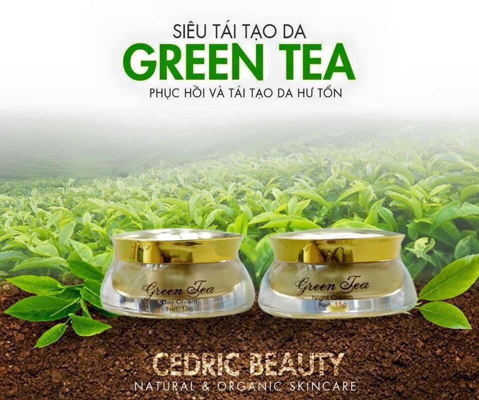 Kem ngăn ngừa nám Green tea 20g (ngày+đêm)