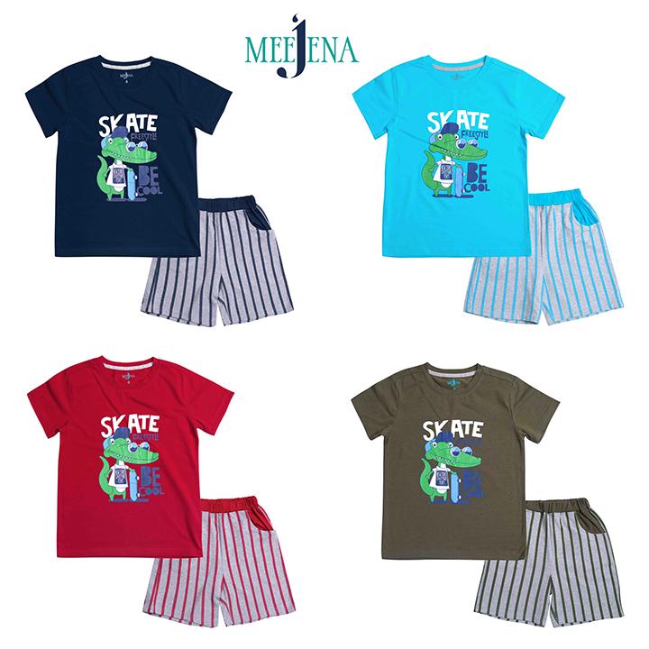 Quần áo bé trai khủng long SKATE từ 18-33 kg - MEEJENA - 100% Cotton - 927