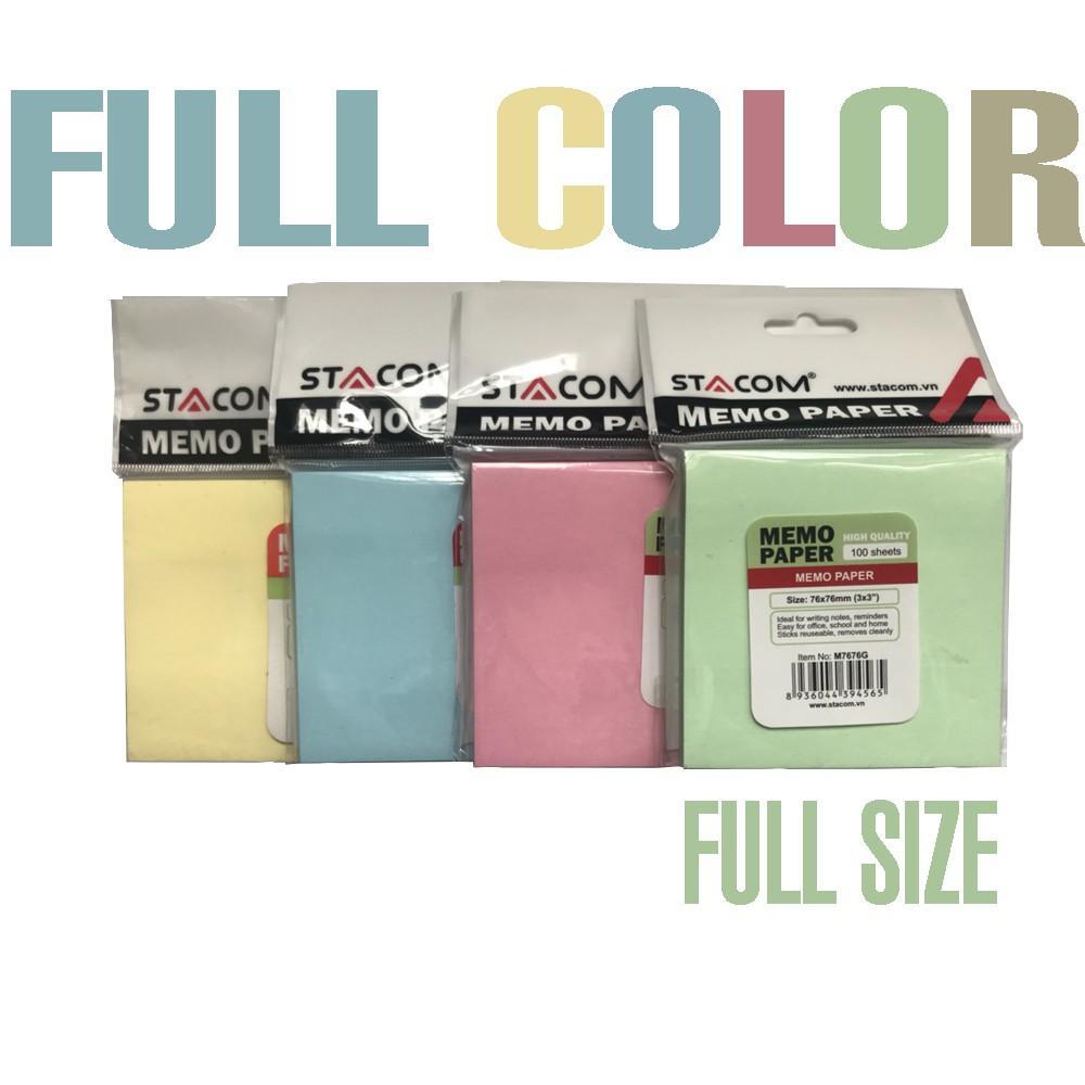 Set 5 giấy note nhiều màu STACOM