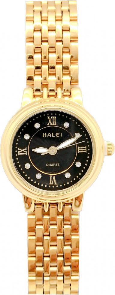 Đồng hồ Nữ Halei cao cấp - HL494 Dây vàng - Đen