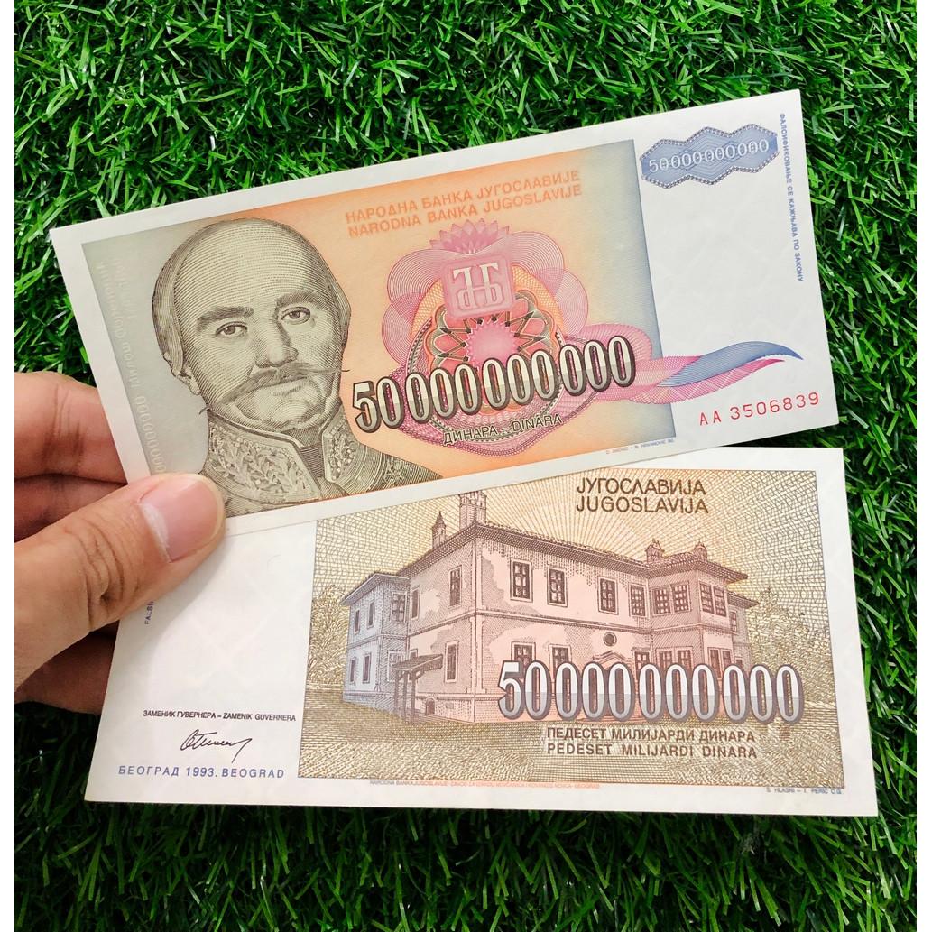 Tờ 50 Tỷ Dinara của Nam Tư siêu khủng thời kỳ lạm phát 1997, sưu tầm tiền mệnh giá khủng
