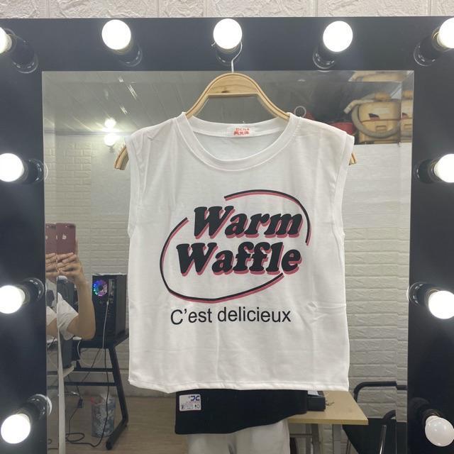 Áo croptop tanktop nữ dưới 60kg - Warm Waffle