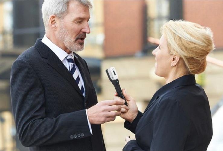Tay cầm phỏng vấn cho Saramonic Blink 500 Pro hàng chính hãng,