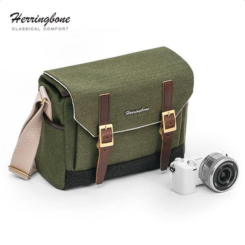 Túi máy ảnh Herringbone Postman Medium - Olive color - Hàng chính hãng