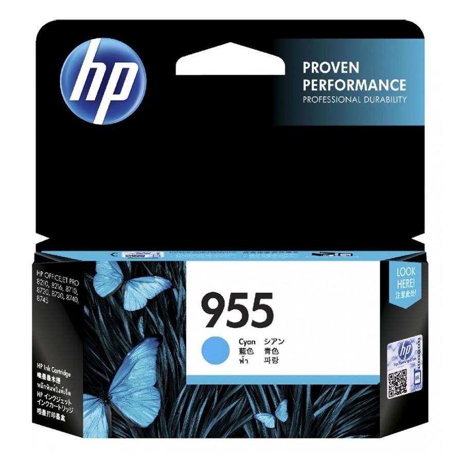 Mực in Phun Màu HP 955 Cyan Original Ink Cartridge Lục/Lam (HP OfficeJet Pro 8210/8216/8710/8720/8730/8740/ 8745/7740/7720/7730)_LOS51AA- Hàng Chính Hãng