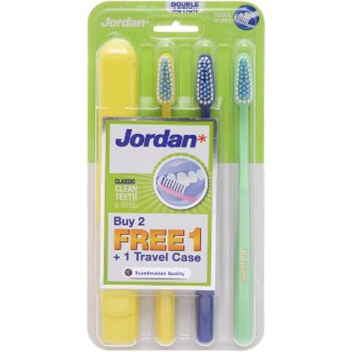 Combo 3 Bàn Chải Đánh Răng Jordan Target Teeth Gums - Giao màu ngẫu nhiên