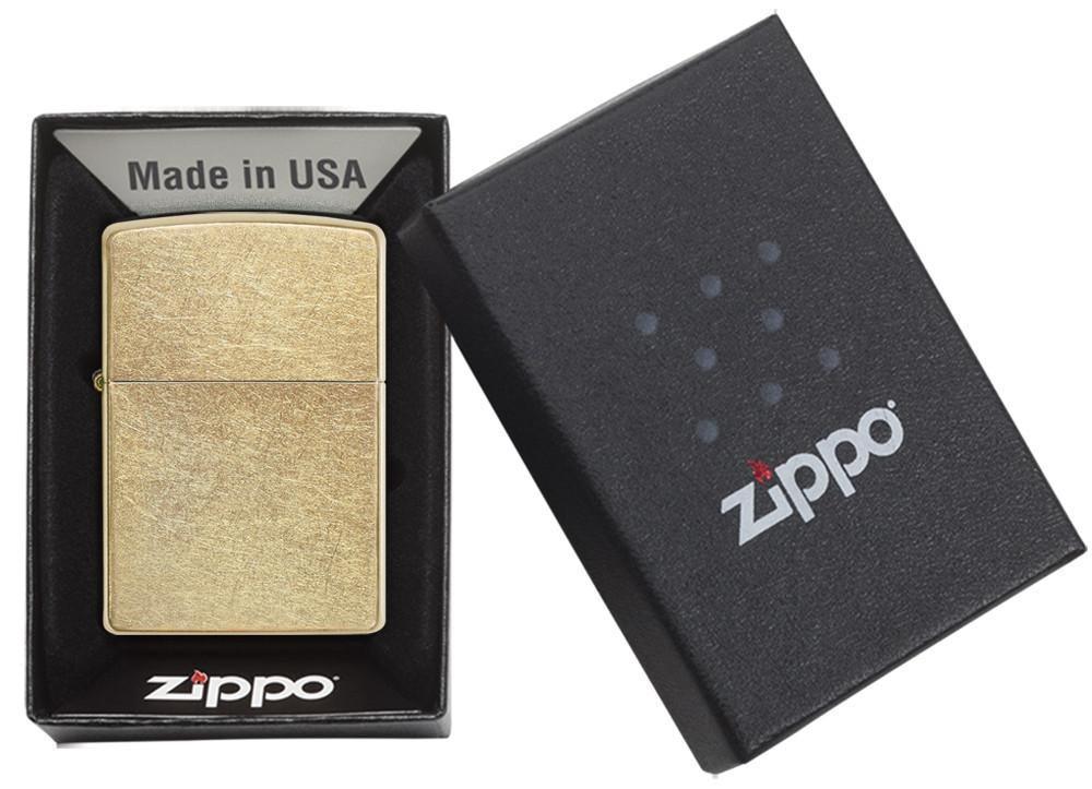 Bật Lửa Zippo Vàng Xước Bụi 207G