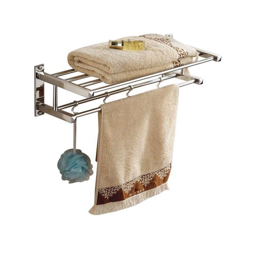 Giàn treo khăn nhà tắm 2 tầng inox (GTK01)