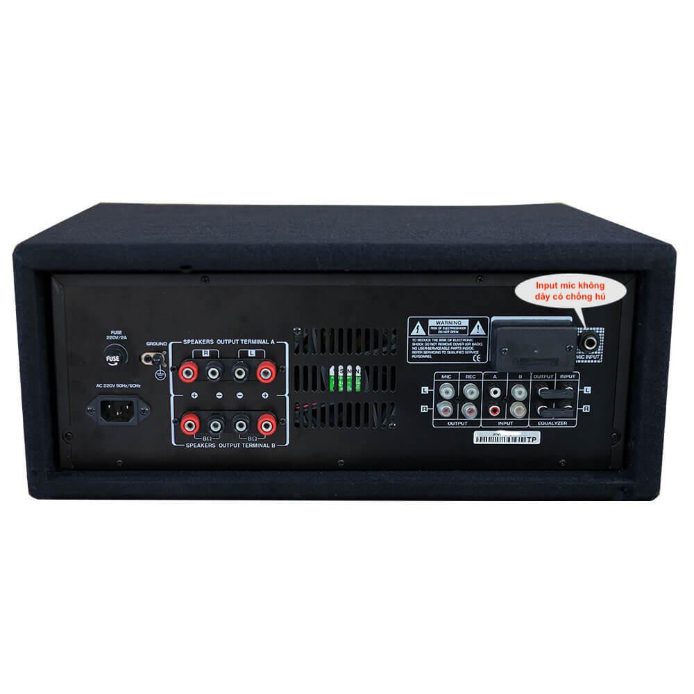AMPLI KARAOKE BLUETOOTH CHỐNG HÚ 4MIC SPA-8001Blu-12con bọc nỉ - Hàng chính hảng mã hàng: 23767