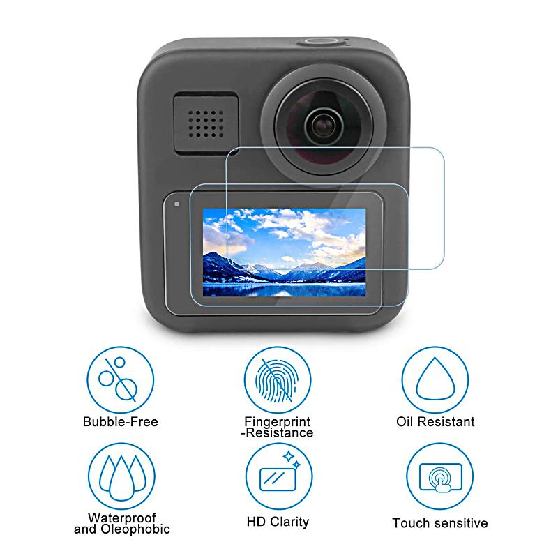 Bộ dán cường lực màn hình và nắp bảo vệ lens cho Gopro Max 360