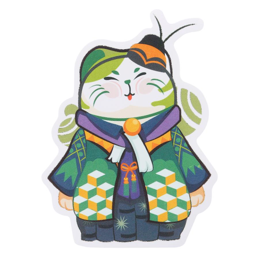 Set 9 Sticker Trang Trí Nhật Bản - Hình Mèo May Mắn