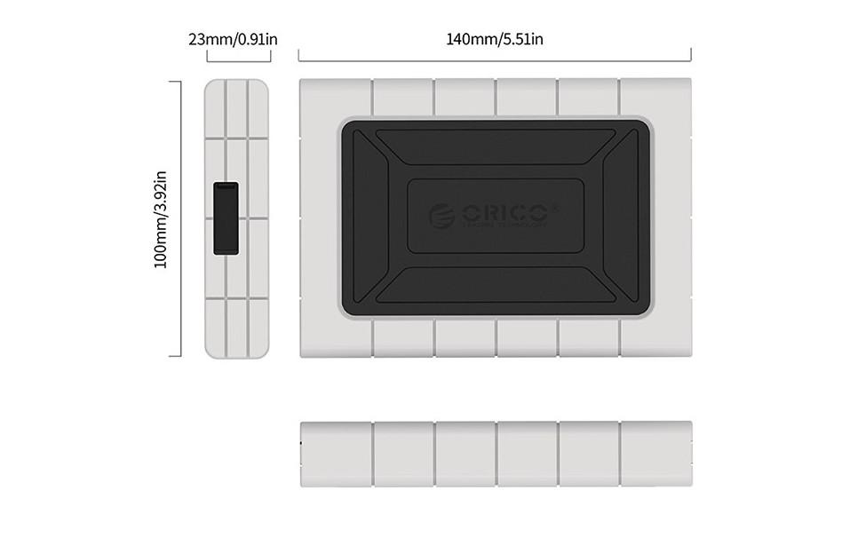 Hộp Bảo Vệ Ổ Cứng Chống Sốc ORICO 2539U3 2.5 inch - Hàng Chính Hãng
