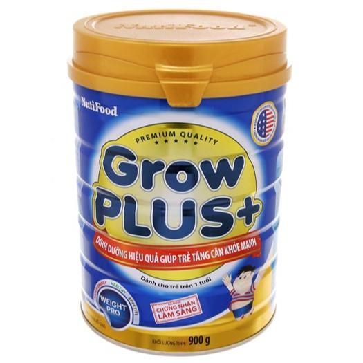 Sữa Nutifood Grow Plus+ Xanh 900 gr: Sữa cho trẻ từ 12 tháng bị thiếu cân, còi cọc