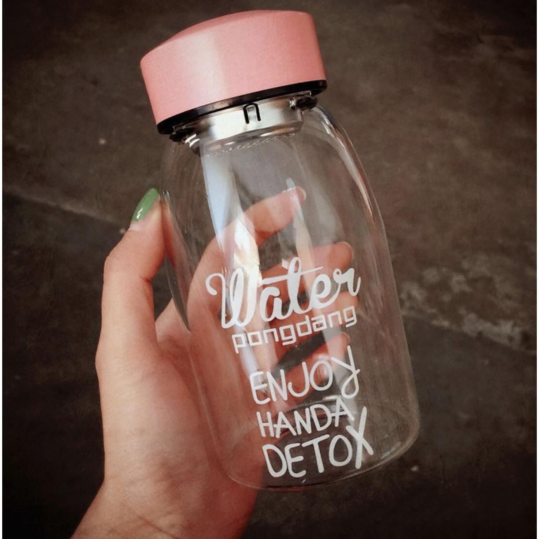 Bình nước nhựa Water detox kèm lọc trà dáng ngắn 500ml