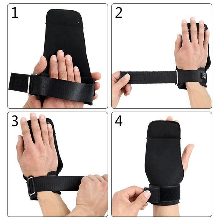 Bộ đôi găng tay đu xà đơn,  bao tay tập tạ, tập gym hở mu cao cấp RX-158 (tặng túi xách dây rút)