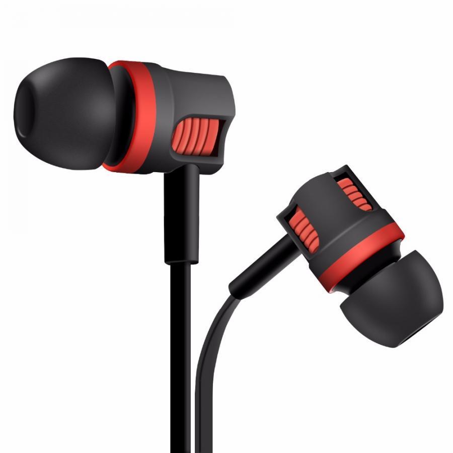 Tai nghe nhét tai chống rối Langsdom Super Bass cho IPHONE/IPAD/SAMSUNG (đen)- Hàng chính hãng