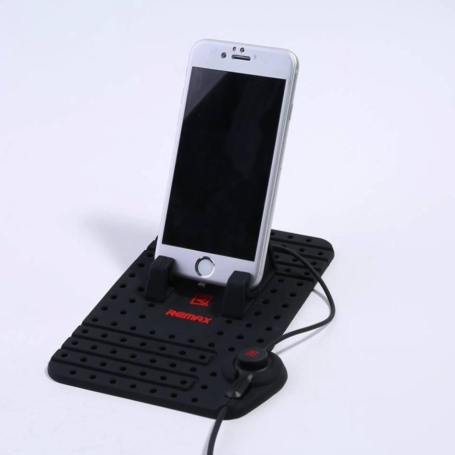 Sạc điện thoại di động kiêm giá đỡ Silicon cho xe hơi REMAX RC-FC1 - Hàng chính hãng