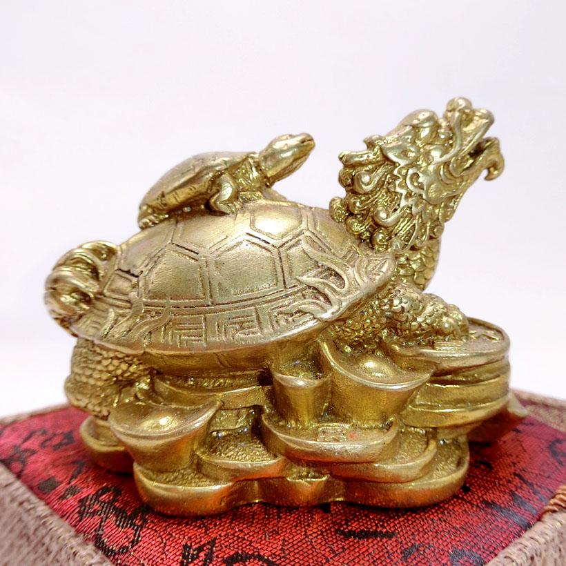 Tượng Long Quy Bằng Đồng - Kim Tiền Jewelry - Hóa Giải Vận Hạn - Vượng Khí Vượng Tài