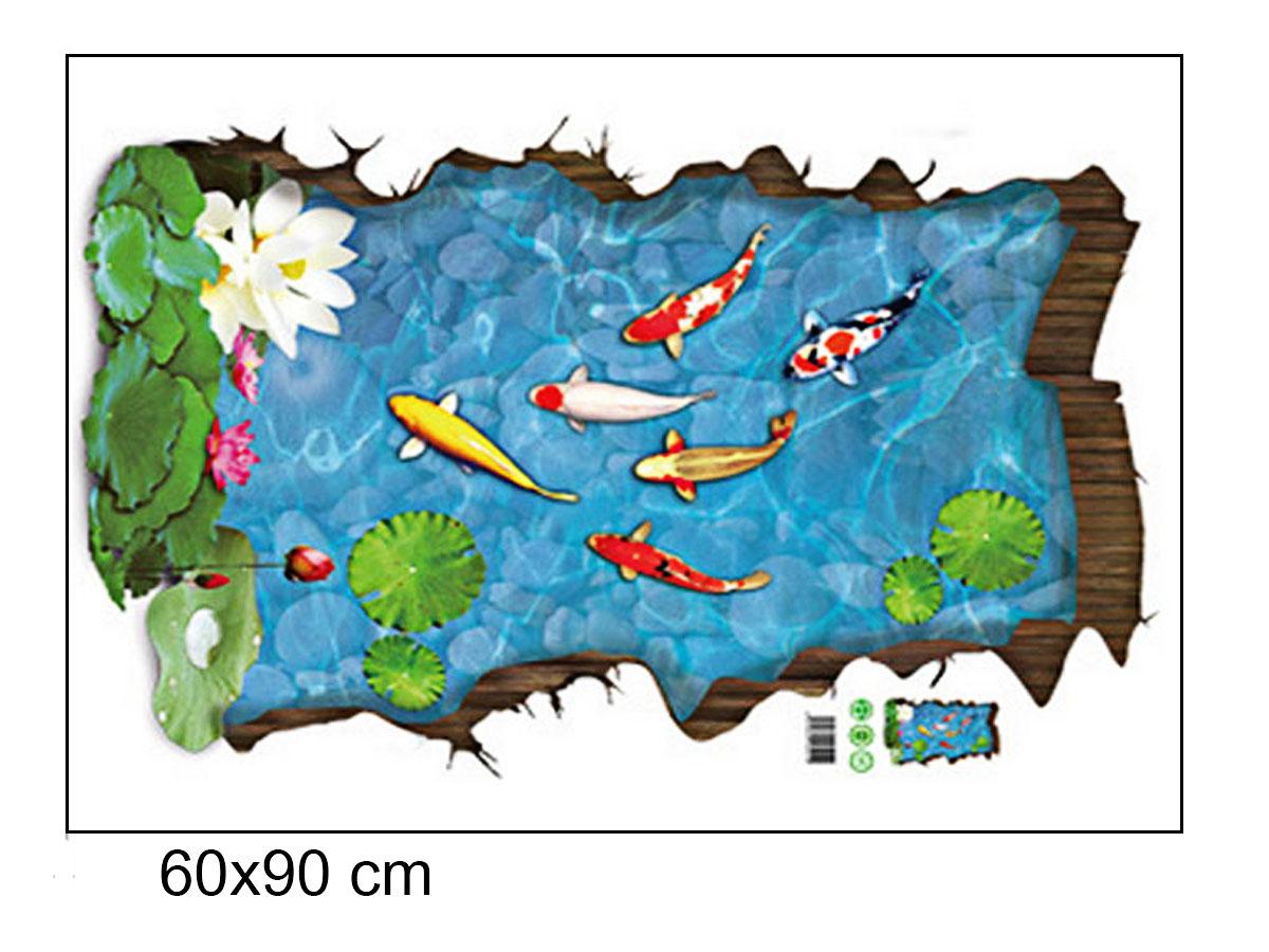 decal dán tường phong cảnh hồ cá sen trắng xh9219
