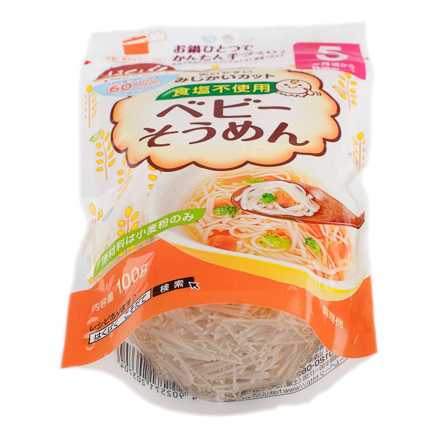Mỳ ăn dặm Baby Somen HakuBaku 100g (Dành cho bé từ 5 tháng)