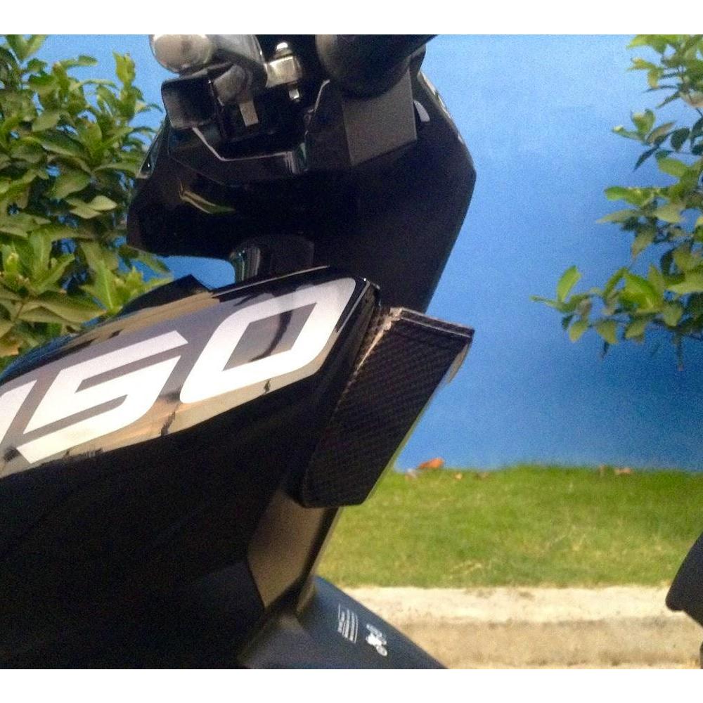Học Đựng Đồ Dành Cho AIR BLADE Mẫu Xi Carbon + Tặng 01 Móc Treo Inox Gắng Baga Xe Máy