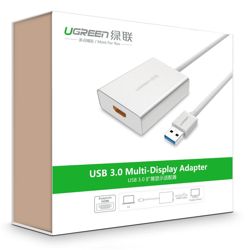 Bộ chuyển đổi USB 3.0 sang HDMI chính hãng UGREEN 40229 - Hàng Chính Hãng