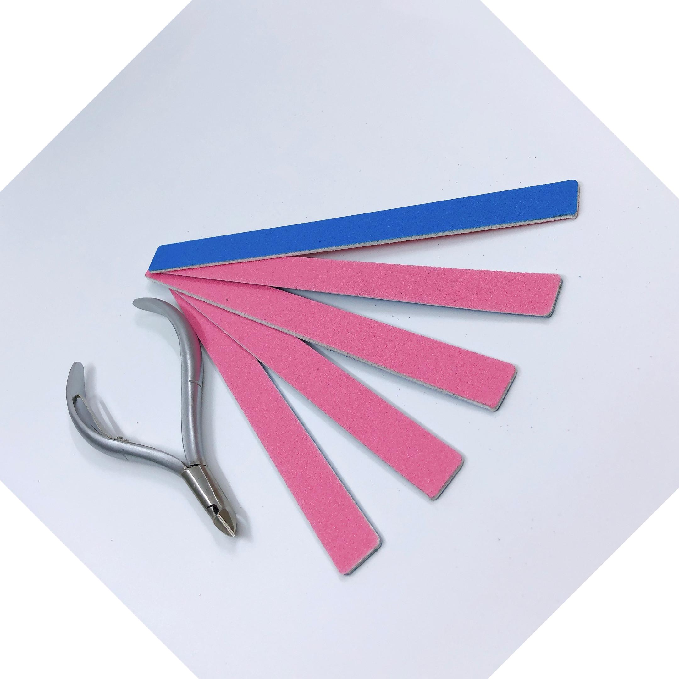 Combo 1 kiềm cắt da đầu tròn, mũi 16 + 5 cây dũa móng tay mini độ nhám 120/120