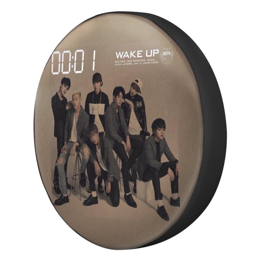 Gối Ôm Tròn In Hình BTS - Wake Up - GOKP518
