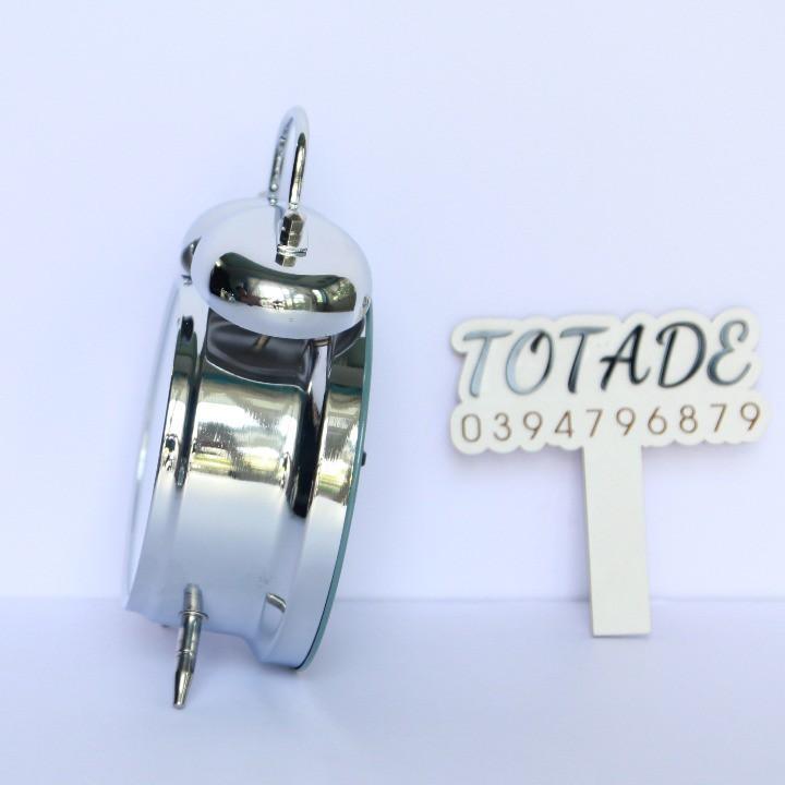 Đồng hồ dây cót con gà mổ thóc - Vỏ kim loại mặt kính - Không dùng pin - GCL0002