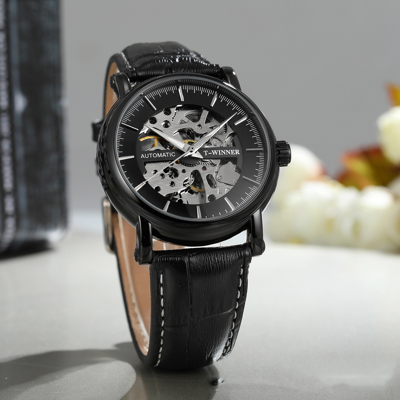 Đồng hồ cơ nam Winner H273M lộ máy kiểu dáng độc đáo