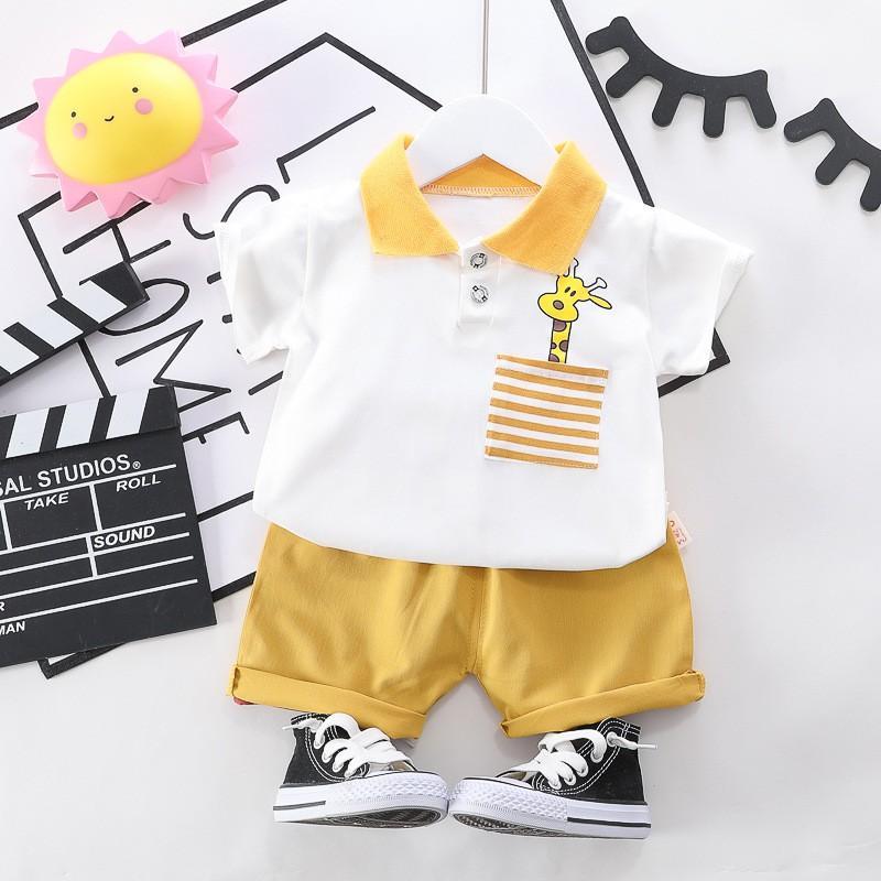BT1Size80-110 (6-18kg)Set bộ bé trai siêu đẹp  -Áo thun+Quần kakiThời trang trẻ Em hàng quảng châu