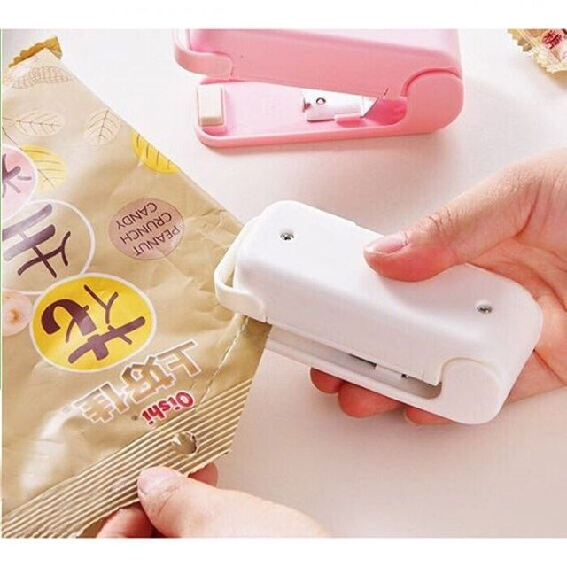 Máy Hàn Miệng Túi Bóng Mini Cầm Tay Nhật Bản - Tặng Gói Trà Sữa Matcha Macca 20g