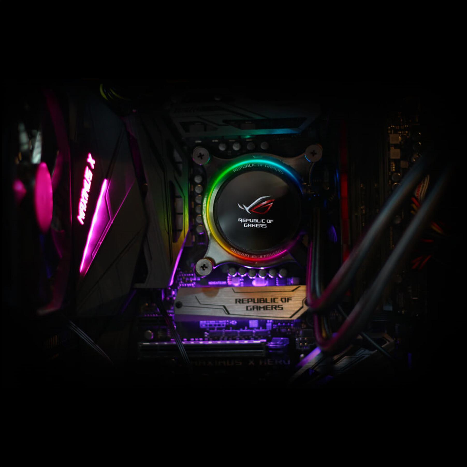 Tản nhiệt nước CPU ASUS ROG RYUO 240 Aura Sync RGB - Hàng Chính Hãng