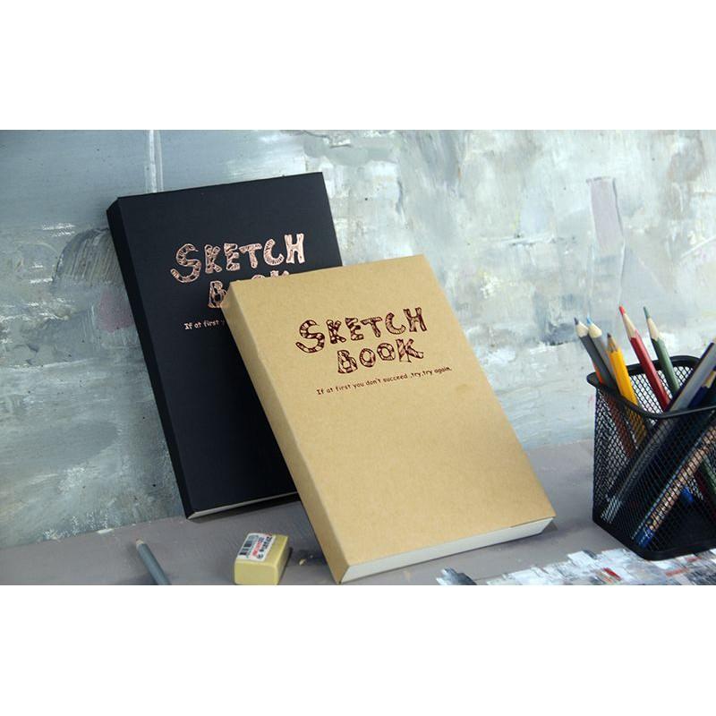 Sổ vẽ Potentate Sketchbook nâu/đen A5